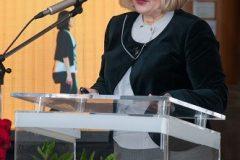 Glavna ravnateljica Nacionalne i sveučilišne knjižnice u Zagrebu dr. sc. Tatijana Petrić na svečanome obilježavanju Dana NSK 2019. godine.