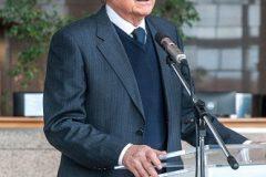 Predsjednik Hrvatske akademije znanosti i umjetnosti akademik Velimir Neidhardt na svečanome obilježavanju Dana NSK 2019. godine.