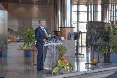 Predsjednik Vlade Republike Hrvatske mr. sc. Andrej Plenković na svečanoj proslavi Dana Nacionalne i sveučilišne knjižnice u Zagrebu 2021.