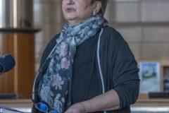 Glavna ravnateljica Nacionalne i sveučilišne knjižnice u Zagrebu prof. dr. sc. Ivanka Stričević na svečanoj proslavi Dana Nacionalne i sveučilišne knjižnice u Zagrebu 2021.