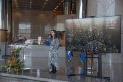 Moderatorica Nela Marasović na svečanoj proslavi Dana Nacionalne i sveučilišne knjižnice u Zagrebu 2021.