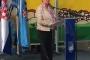 Marina Medarić, zamjenica župana Primorsko-goranske županije, na svečanome otvorenju Mjeseca hrvatske knjige 2017. u Gradskoj knjižnici Crikvenica.