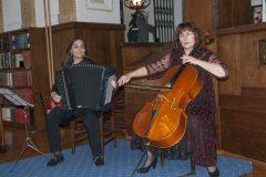 Svečanost proslave Dana Nacionalne i sveučilišne knjižnice u Zagrebu 2020. svojim su glazbenim nastupom uveličale Snježana Rucner na violončelu i Martina Jembrišak na harmonici.