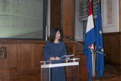 Moderatorica Dobrila Zvonarek na svečanoj proslavi Dana Nacionalne i sveučilišne knjižnice u Zagrebu 2020.