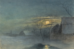"Hugo Conrad von Hötzendorf, ""Mjesečina I"" (Moonlight I), 1845. Print Collection of the National and University Library in Zagreb. http://virtualna.nsk.hr/hotzendorf/."