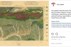 A geological, 1904 map by Dragutin Gorjanović-Kramberger, a Croatian palaeontologist, palaeoanthropologist and geologist famous for his discovery of the prehistoric man in Krapina, on the Instagram profile of the National and University Library in Zagreb.