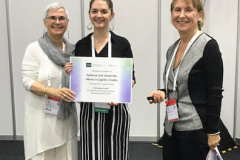 "Dragana Koljenik, from the NSK Croatian Digital Library Development Division, was presented with the IFLA BibLibre International Marketing Award 2018 at IFLA WLIC 2018 for ""Greetings from Zagreb"", the mobile application of the National and University Library in Zagreb."