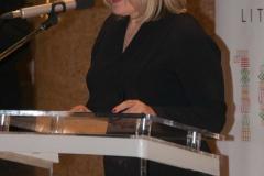Glavna ravnateljica Nacionalne i sveučilišne knjižnice u Zagrebu dr. sc. Tatijana Petrić na svečanom obilježavanju stote obljetnice ponovne uspostave državnosti Republike Litve održanom u NSK.
