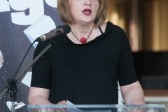 Vanja Jurilj, predsjednica Hrvatske udruge školskih knjižničara na svečanome otvorenju Noći knjige 2018.