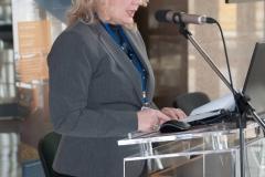 Dr. sc. Dijana Machala, savjetnica za knjižnično-informacijski sustav Nacionalne i sveučilišne knjižnice u Zagrebu, predsjednica Organizacijskog odbora stručnog skupa.