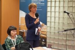 Zaključci skupa, izvještaji moderatora (s lijeve na desno): Tinka Katić, Marijana Glavica.