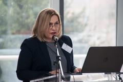 """Glavna ravnateljica Nacionalne i sveučilišne knjižnice u Zagrebu dr. sc. Tatijana Petrić otvorila je tribinu i radionicu uvodnim izlaganjem o projektu """"e-Izvori""""."""