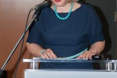 Glavna ravnateljica Nacionalne i sveučilišne knjižnice u Zagrebu dr. sc. Tatijana Petrić na svečanom potpisivanju Sporazuma o suradnji na razvoju i održavanju Hrvatskog nacionalnog skupnog kataloga.