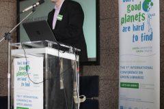 "Ivan Guettler (Državni hidrometeorološki zavod) na 1. međunarodnoj konferenciji o zelenim knjižnicama ""Let's Go Green!"". Nacionalna i sveučilišna knjižnica u Zagrebu, 8. – 10. studenog 2018."