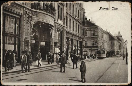 Razglednica iz fonda Grafičke zbirke Nacionalne i sveučilišne knjižnice u Zagrebu s prikazom Ilice.