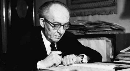 Hrvatski skladatelj Jakov Gotovac (11. listopada 1895. – 16. listopada 1982.).