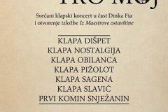 Plakat koncerta Maestro moj, održanog 2014. godine u Nacionalnoj i sveučilišnoj knjižnici u Zagrebu, zajedno s prigodnom izložbom Iz Maestrove ostavštine.