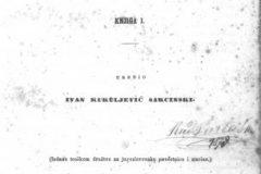 """Kukuljević Sakcinski, Ivan. """"Arkiv za povjestnicu jugoslavensku"""" (12 svezaka, 1851. – 1875.)."""