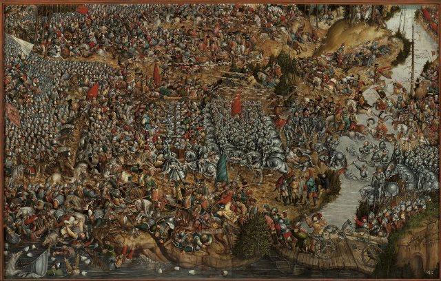 "Nepoznati autor. ""Bitka kod Orše"" (1525.-1535.). Nacionalni muzej u Varšavi, Poljska. Izvor: http://www.europeana.eu/portal/en/exhibitions/faces-of-europe/."
