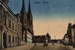 Razglednica Zagreba iz fonda Grafičke zbirke NSK. Zagreb : Kaptol. Zagreb : Naklada Rudolf Polaček, (1918).
