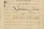 Uvertira opere Ljubav i zloba, 1845. godina Vatroslav Lisinski, autograf