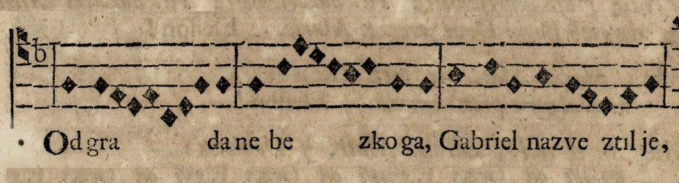 Cithara octochorda, zbornik s latinskim i kajkavskim tekstovima pjesama 1757., Zbirka muzikalija i audiomaterijala