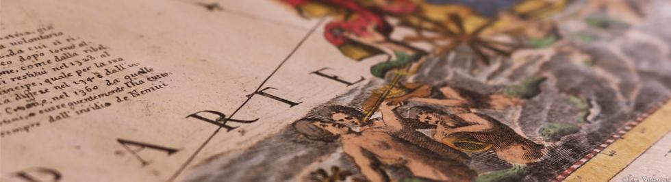 V. M. Coronelli: Golfo di Venezia, obojeni bakrorez, 1688. Zbirka zemljovida i atlasa NSK