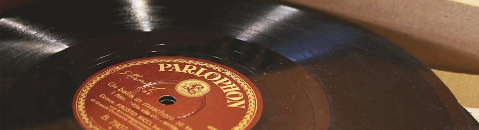 Šelak gramofonska ploča, izdanje Polydor, početak 20. stoljeća,  Zbirka muzikalija i audiomaterijala NSK