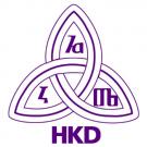 Logotip Hrvatskoga knjižničarskog društva.