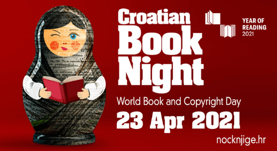 Croatian Book Night 2021, 23 April 2021.