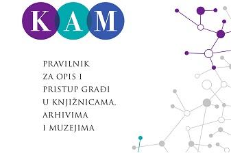 Naslovnica Pravilnika za opis i pristup građi u knjižnicama, arhivima i muzejima.