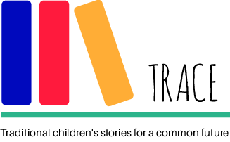 """The logotype of the Erasmus+ project TRACE (""""Traditional children's stories for a common future"""")."""