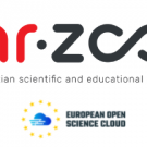 The logotypes of the Croatian Scientific and Educational Cloud and the European Open Science Cloud.